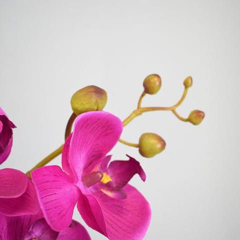 Imagem de Arranjo de Orquídea Artificial Pink no Vaso Rose Gold Médio