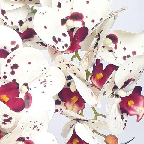 Imagem de Arranjo de Orquídea Artificial Tigre em Vaso Tubo Gaia