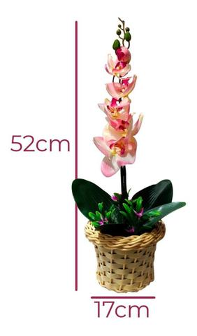 Imagem de Arranjo De Orquídeas Silicone 3d Flores Artificiais 52cm  Pink