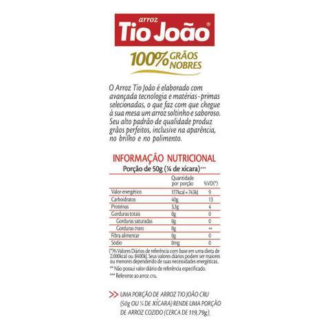 Imagem de Arroz Tio João 100% Grãos Nobres - 2kg