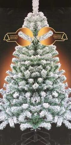 Imagem de Árvore de Natal 1,50 m 400 Galhos Neve Nr 30 com 100 Luzes Brancas de Led 220v