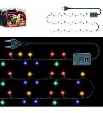 Imagem de Árvore de Natal 1,80 m 580 Galhos com 100 Luzes de Led Coloridas 110v