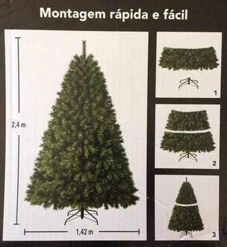Imagem de Árvore de Natal Pinheiro 2,40 M 240 cm 1482 Galhos Smsc