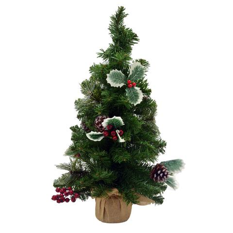 Imagem de Árvore Decorada Santini Christmas 56cm Nature