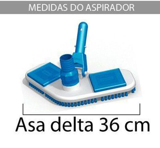 Imagem de Aspirador Asa Delta p/ piscinas de vinil, fibra e alvenaria - Sodramar