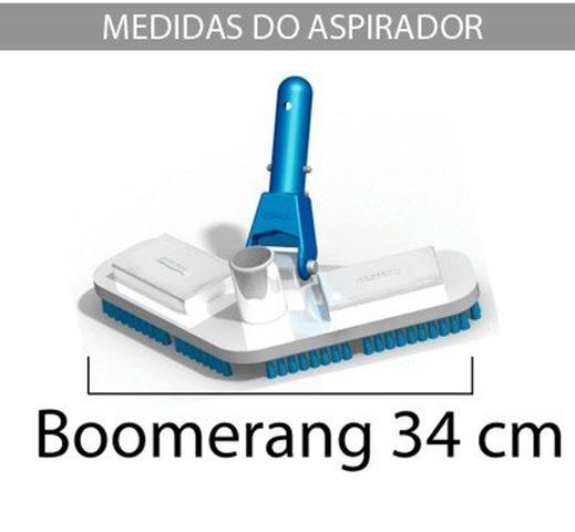 Imagem de Aspirador Boomerang p/ piscinas de vinil, fibra e alvenaria - Sodramar