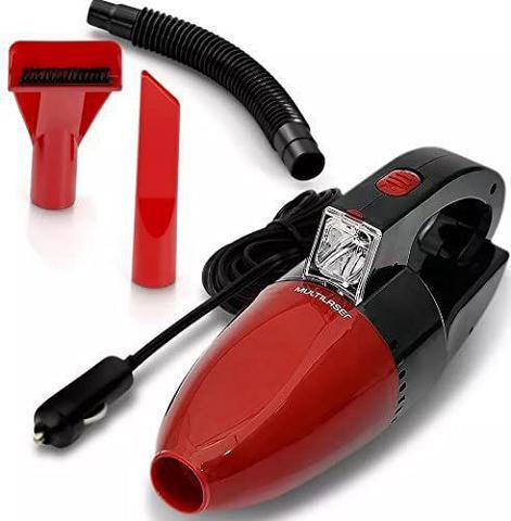 Imagem de Aspirador de Pó Automotivo Funcao Solido e Liquido Com Mangueira 1500PA Vermelho Multilaser 12v 60w