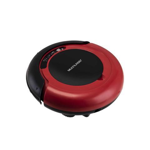 Imagem de Aspirador de Pó Robô Varre + Aspira + Passa Pano Bivolt com 17W e Bateria Recarregável Vermelho/Preto Multilaser - HO041