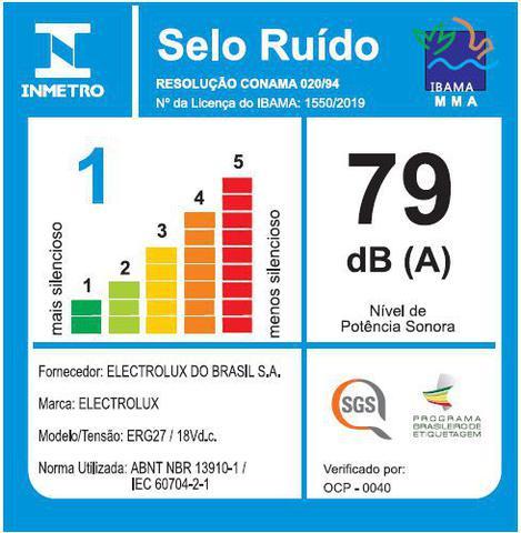 Imagem de Aspirador de Pó Vertical 18V Ergorapido Electrolux sem Fio ideal Piso Frio LED até 45 min  (ERG27)