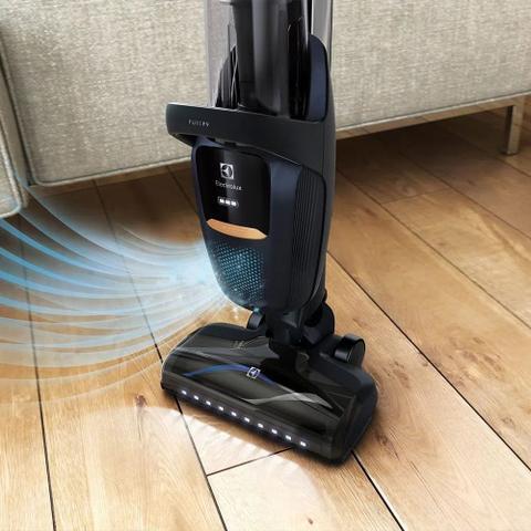 Imagem de Aspirador de pó Vertical 32,4V Pure F9 Electrolux sem Fio Mangueira Flexível e Filtro HEPA (SH1F9)