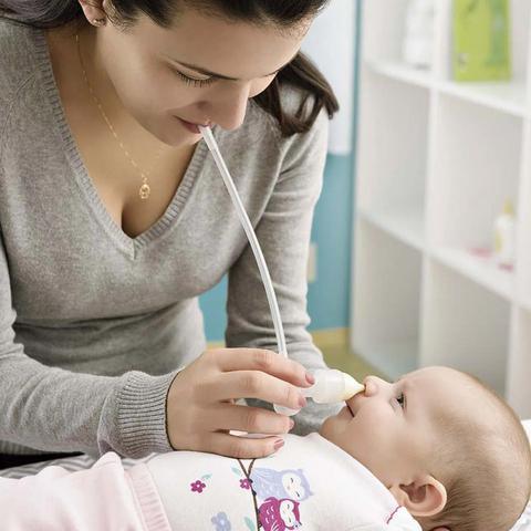 Imagem de Aspirador Nasal Infantil Bebê Manual Congestão Succao Nose Clean Multikids Baby BB139