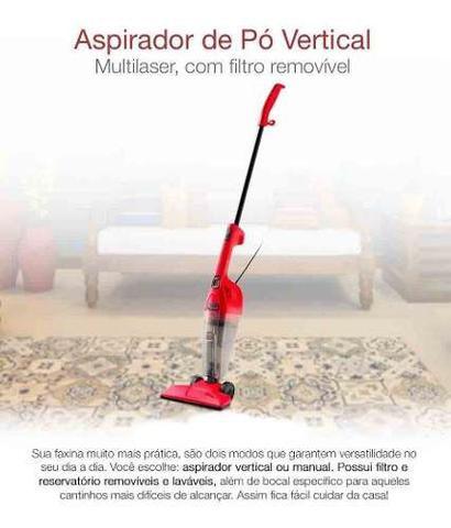 Imagem de Aspirador Pó Multilaser Vertical 110v 1000w Portátil Ho060