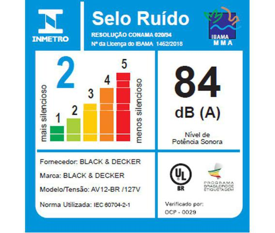 Imagem de Aspirador Vertical e Portátil AV12 Black+Decker