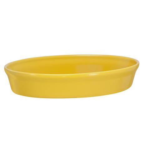 Imagem de Assadeira oval de cerâmica mondoceram gourmet 1600ml- amarelo