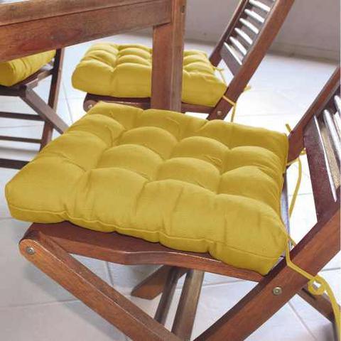 Imagem de Assento Para Cadeira Futon 40x40 Cm Oxford Mostarda