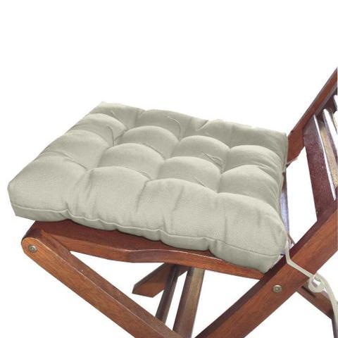 Imagem de Assento Para Cadeira Tecido Futon 40x40cm - Bege