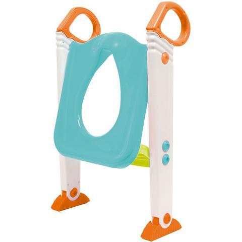 Imagem de Assento Redutor Infantil Vaso Sanitário Escada Desfralde Azul Buba
