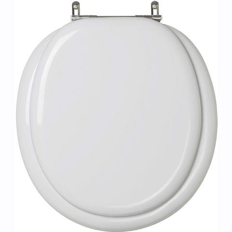 Imagem de Assento sanitario estofado classica cinza prata