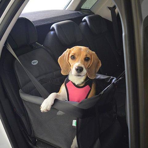 Imagem de Assento Transpet Big Para Transporte de Cães e Gatos Até 15kg Preto e Vermelho - Tubline