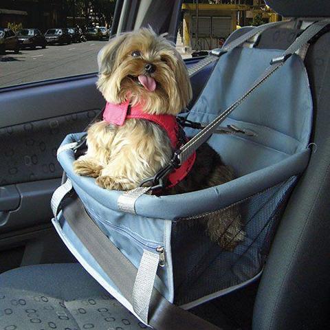 Imagem de Assento Transpet Para Transporte de Cães e Gatos Rosa e Azul - Tubline