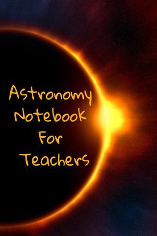 Imagem de Astronomy Notebook For Teachers
