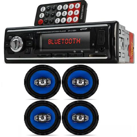 Imagem de Auto Radio Automotivo Bluetooth Mp3 Player Usb e Kit 4 Alto Falantes Orion 6 Pol 220w Rms