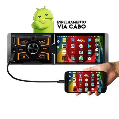 Imagem de Auto Rádio Bluetooth Aparelho De Som Carro Similar Pioneer Usb Sd Card Aux