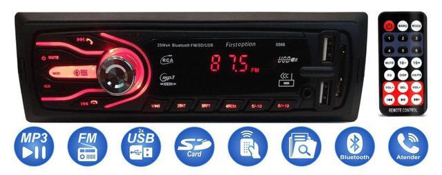 Imagem de Auto Rádio Bluetooth Mp3 Player Aparelho De Som Carro Automotivo Rádio