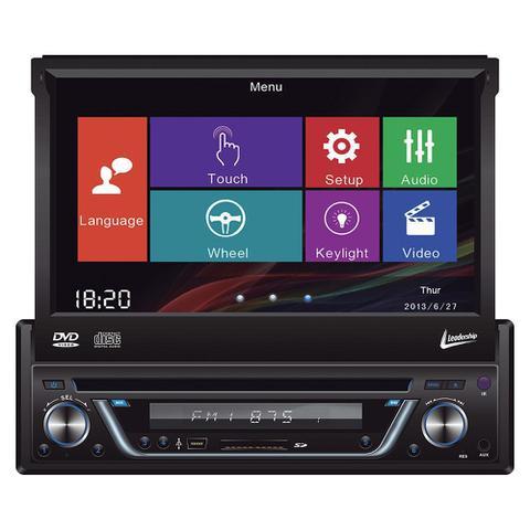 Imagem de Auto Radio DVD Player Leadership Titanium 5975 4 X 50W Tela Retratil 7 Polegadas