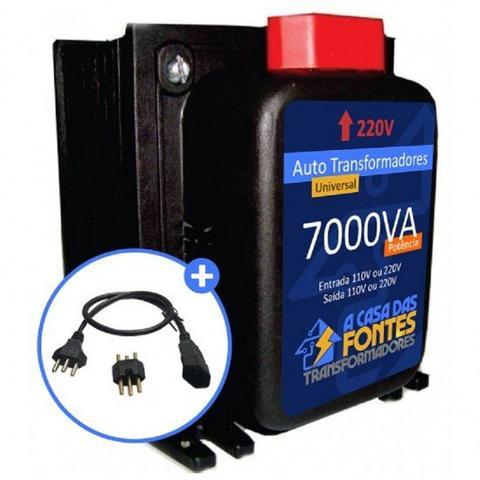 Imagem de Auto Transformador 7000VA 110 para 220 e/ou 220 para 110 Tomadas