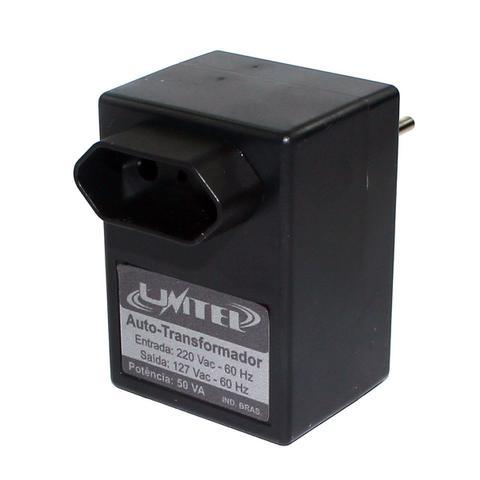 Imagem de Autotransformador inversor conversor transformador de voltagem 220v para 127v 50va de parede unitel