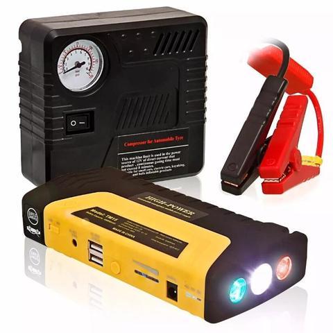 Imagem de Auxiliar De Partida Emergência Powerbank Lanterna Compressor