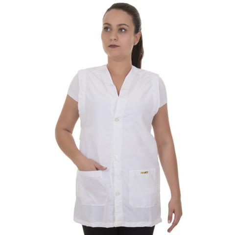 Imagem de Avental / Jaleco De Enfermagem Em Microfibra Sem Manga Branco - Artipé