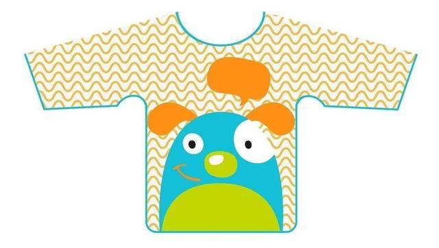 Imagem de Babador Avental Manga Longa Impermeável Infantil Bebe Animais Zoo - Multikids Baby