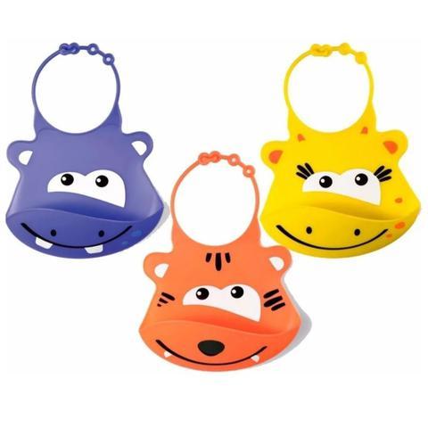 Imagem de Babador De Silicone Para Bebês - Animais