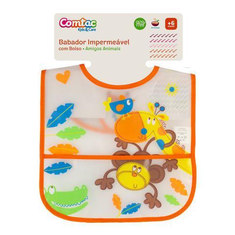 Imagem de Babador Impermeável Amigos Animais - Comtac Kids