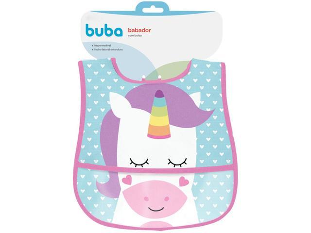 Imagem de Babador Impermeável com Bolso Buba Animal Fun