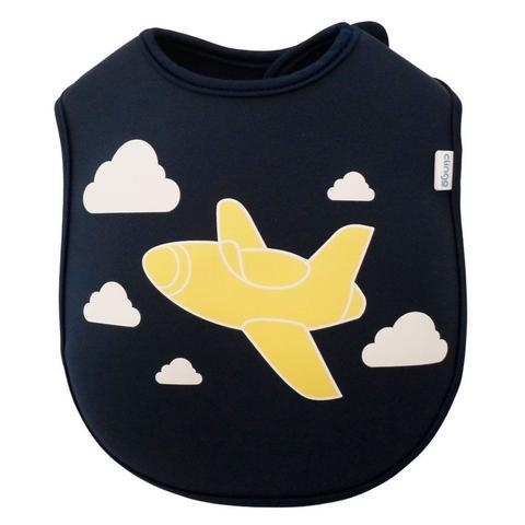 Imagem de Babador Infantil De Neoprene Clingo Avião