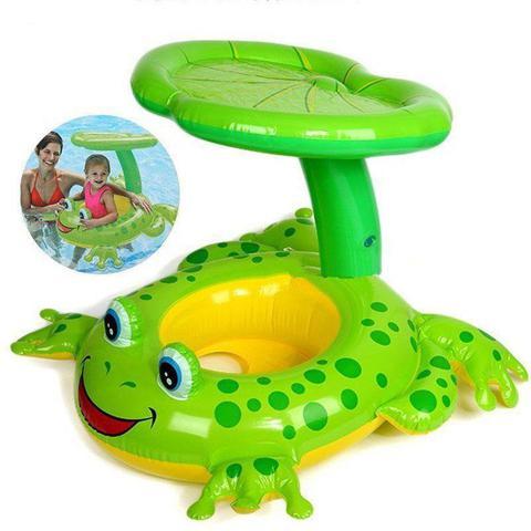 Imagem de Baby Bote Inflável Com Cobertura Sapinho Intex