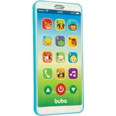 Imagem de Baby Phone Celular para Bebê Telefone com Sons e Músicas Infantil Azul Buba