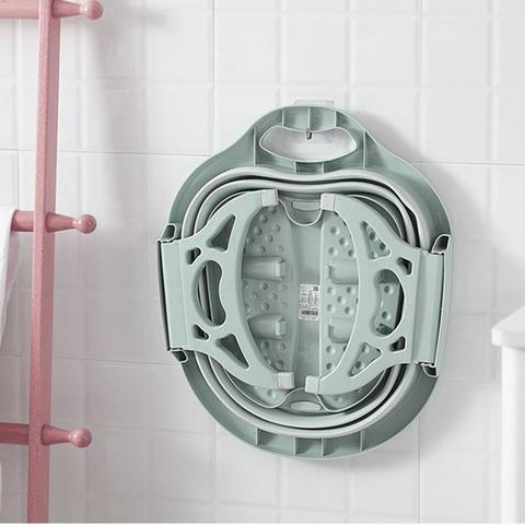 Imagem de bacia Massageador Para Pés pedicure Portátil banheira  dobravel spa relaxamento massagem banho
