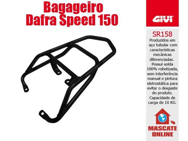 Imagem de Bagageiro Givi Dafra Speed 150 Suporte baú bauleto SR158