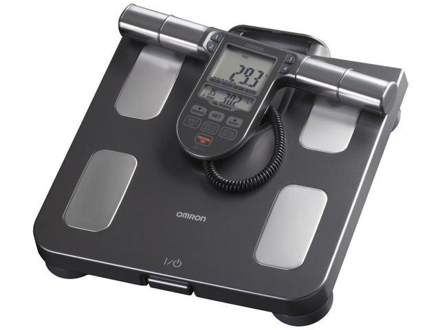 Imagem de Balança 150kg com Medidor de Gordura IMC Omron