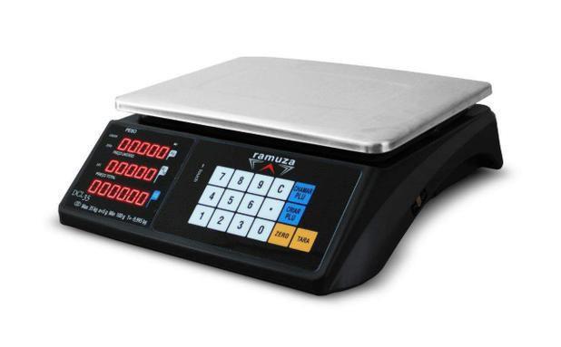 Imagem de Balança 35kg com bateria e touch preta dcl35 110v ramuza