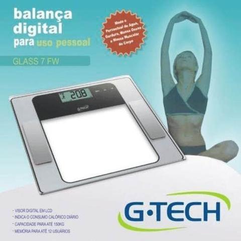 Imagem de Balança Bioimpedância Analisador de Gordura Corporal G-tech 7 Fw