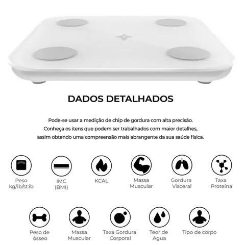 Imagem de Balança Bioimpedância Bluetooth Gordura Corporal Digital Led