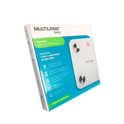 Imagem de Balança Bioimpedância Corporal Digital Bluetooth Multilaser