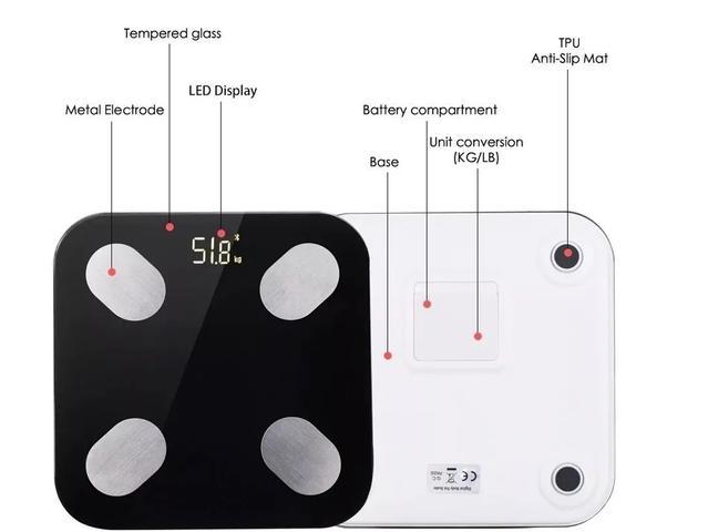 Imagem de Balança Bluetooth com Bioimpedancia BANHEIRO APP 180KG