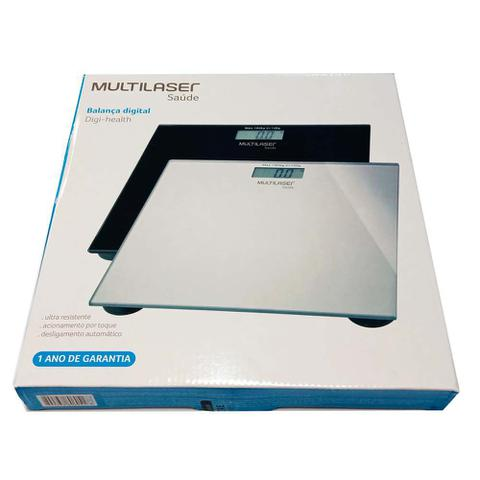 Imagem de Balança Corporal Digital Multilaser Digi-health Preta 180 Kg