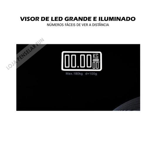Imagem de Balança Corporal Vidro Temperado Display Digital Lcd Preta
